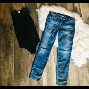 Joe's Jo Jeans Outfit with Black Bodysuit